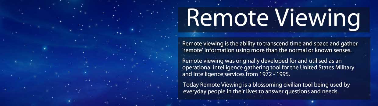 Welcome to Remote Viewing